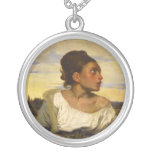 Orphan Girl at the Cemetery by Eugene Delacroix Necklace