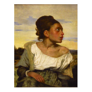 Orphan Girl at the Cemetery by Eugene Delacroix Postcard