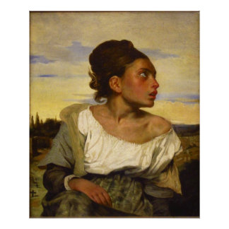Orphan Girl at the Cemetery by Eugene Delacroix Poster
