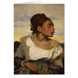 Orphan Girl at the Cemetery Card