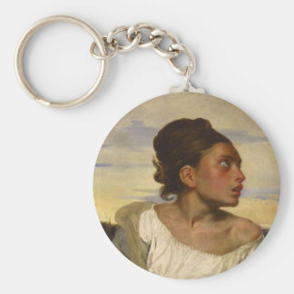 Orphan Girl at the Cemetery Keychain