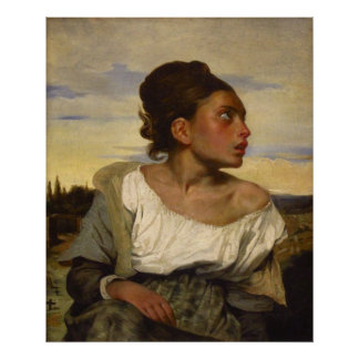 Orphan Girl at the Cemetery Poster
