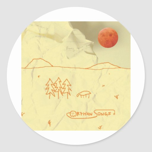 Orphan Songs Self-Titled Album Cover Classic Round Sticker