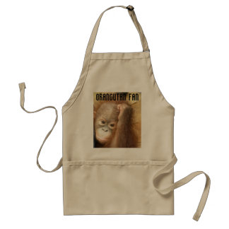 orphaned baby_2, Orangutan Fan Adult Apron