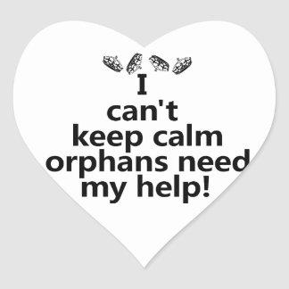 Orphans need my help heart sticker