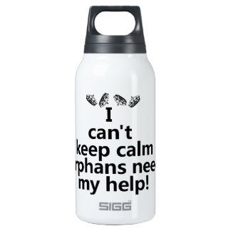 Orphans need my help insulated water bottle