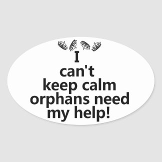 Orphans need my help oval sticker