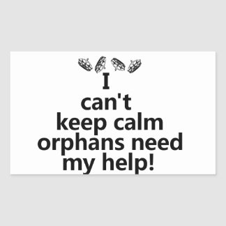 Orphans need my help rectangular sticker