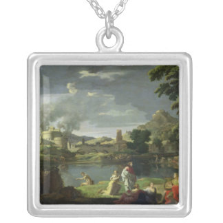Orpheus and Eurydice 2 Silver Plated Necklace