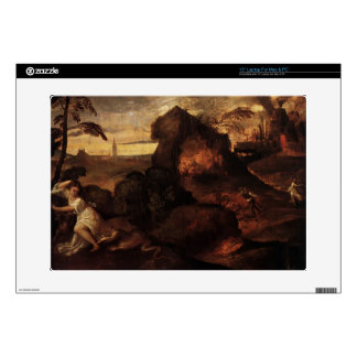 Orpheus and Eurydice by George Frederick Watts Decal For Laptop