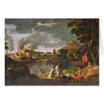 Orpheus And Eurydice By Poussin Nicolas Card