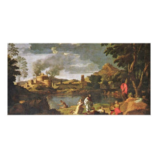 Orpheus And Eurydice By Poussin Nicolas Photo Card