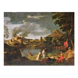 Orpheus And Eurydice By Poussin Nicolas Postcard