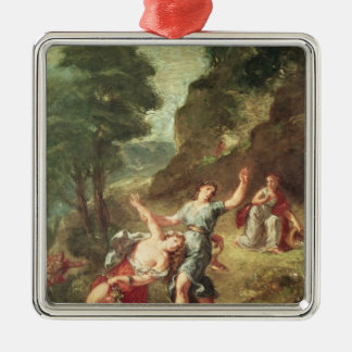 Orpheus and Eurydice, Spring Square Metal Christmas Ornament