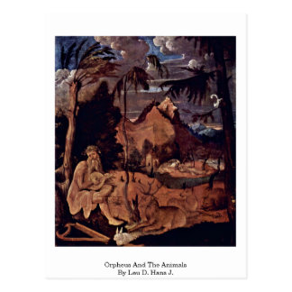Orpheus And The Animals By Leu D. Hans J. Postcard