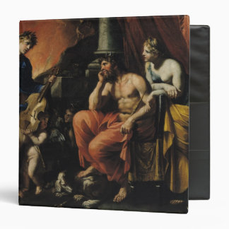Orpheus before Pluto and Persephone 3 Ring Binder