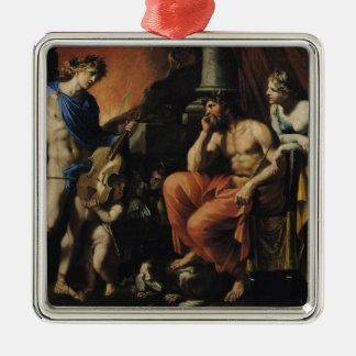 Orpheus before Pluto and Persephone Metal Ornament