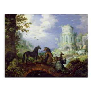 Orpheus Charming the Animals, 1626 Postcard