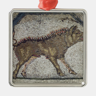 Orpheus Charming the Animals Square Metal Christmas Ornament