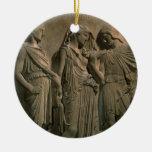 Orpheus, Eurydice and Hermes (marble) Christmas Tree Ornament