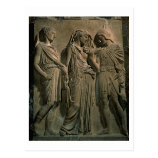 Orpheus, Eurydice and Hermes (marble) Postcard