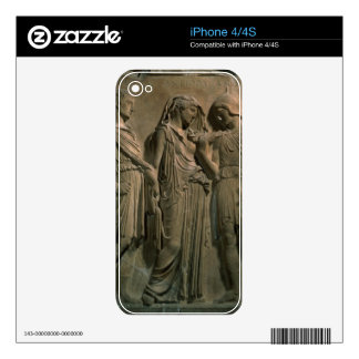 Orpheus, Eurydice and Hermes (marble) Skin For iPhone 4S