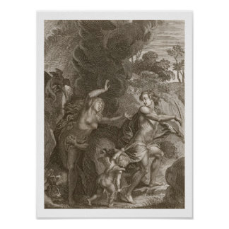 Orpheus, Leading Eurydice Out of Hell, Looks Back Print