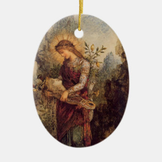 Orpheus music god ceramic ornament
