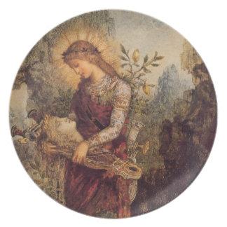 Orpheus music god melamine plate