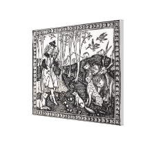Orpheus Playing to the Animals, 1500 Canvas Print