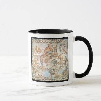 Orpheus playing to the animals, Roman mosaic Mug