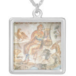 Orpheus playing to the animals, Roman mosaic Necklace