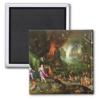 Orpheus with a Harp Playing to Pluto 2 Inch Square Magnet