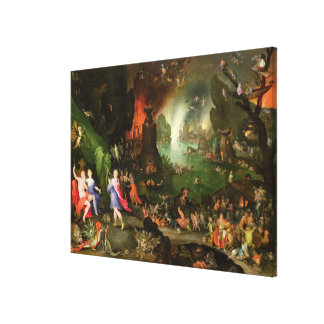 Orpheus with a Harp Playing to Pluto Canvas Print