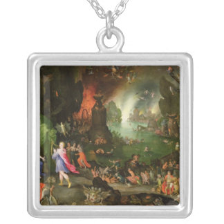 Orpheus with a Harp Playing to Pluto Silver Plated Necklace