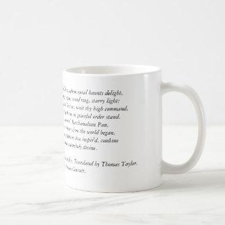 Orphic Hymn To Pan Coffee Mug