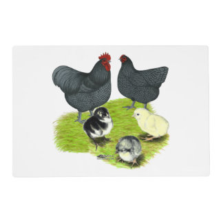 Orpington Blue Chicken Family Placemat