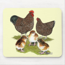 Orpington Jubilee Chicken Family Mouse Pad
