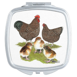 Orpington Jubilee Chicken Family Makeup Mirror