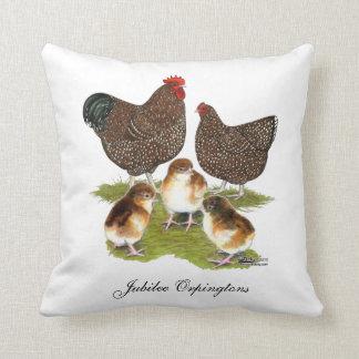 Orpington Jubilee Chicken Family Throw Pillow