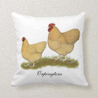 Orpingtons Lemon Cuckoo Throw Pillow