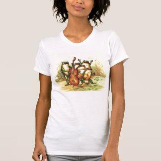Orquesta de la banda de los músicos de la rana del camisetas
