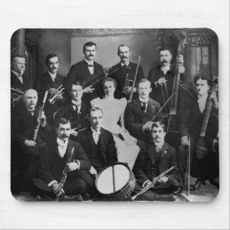Orquesta de la ciudad del vintage tapete de ratón