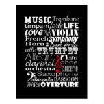 Orquesta de la música postales