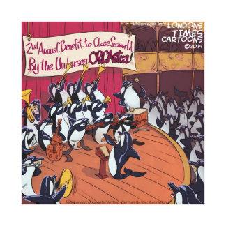 Orquesta de la orca divertida impresión en lienzo