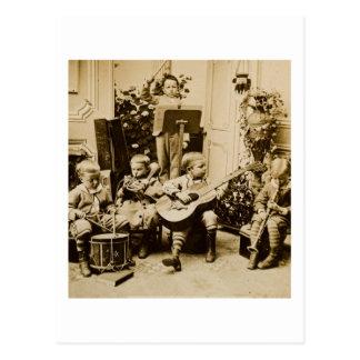 Orquesta de los niños pequeños - vintage tarjeta postal