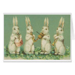 ¡Orquesta del conejito de pascua! Tarjeta de felic