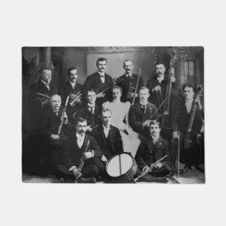 Orquesta del vintage para el amante de la música felpudo
