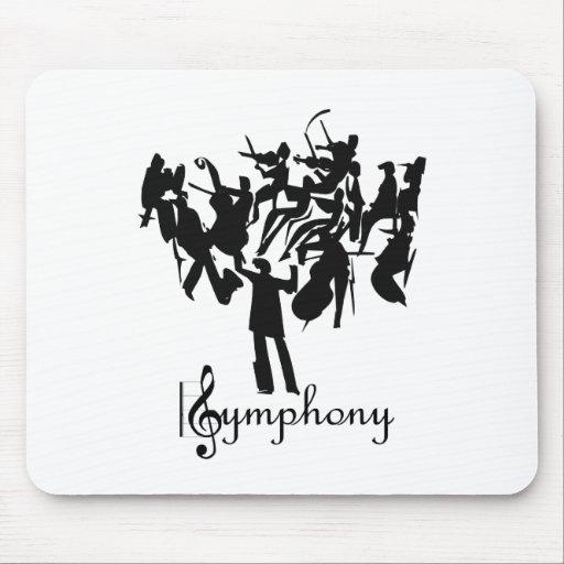 Orquesta sinfónica en un diseño estilizado alfombrilla de raton