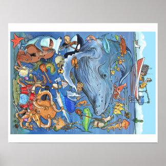 Orquesta subacuática 20x16 póster
